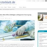 """Bericht über die Veranstaltung """" Versorgungsdebakel Lipödem – wie geht´sweiter? """" im Ärtzeblatt"""